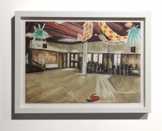 Louisa Dursoe, Sad Lights and Emergency Exits 2012. Watercolour on paper, 37 x 49 cm