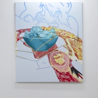Entrée, 2016. Acrylic and oil on canvas, 180 x 160 cm. Block 336.jpg