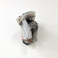 Bruce Ingram, Untitled, 2013. Plaster, ceramic, canvas, ink and spray paint