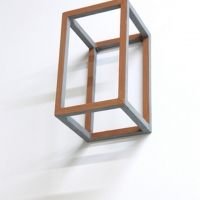 Andrew Hewish, Ficino 2012. Wood, paint, 7 x 7 x 17 cm
