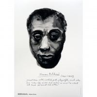 Marlene Dumas, 'James Baldwin (from the series Great Men)', 2014, Offset print on paper, 59.4 cm x 42 cm (23.4 x 16.5 in)