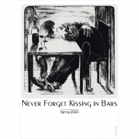 Nicole Eisenman, 'Never Forget Kissing in Bars', 2020, Offset print on paper, 59.4 cm x 42 cm (23.4 x 16.5 in)