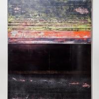 Alert. Gloss, spray paint on-ply. 168 x 122 cm