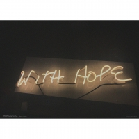 Glenn Ligon, 'With Hope', 2017, Offset print on paper, 42 cm x 59.4 cm (16.5 x 23.4 in)